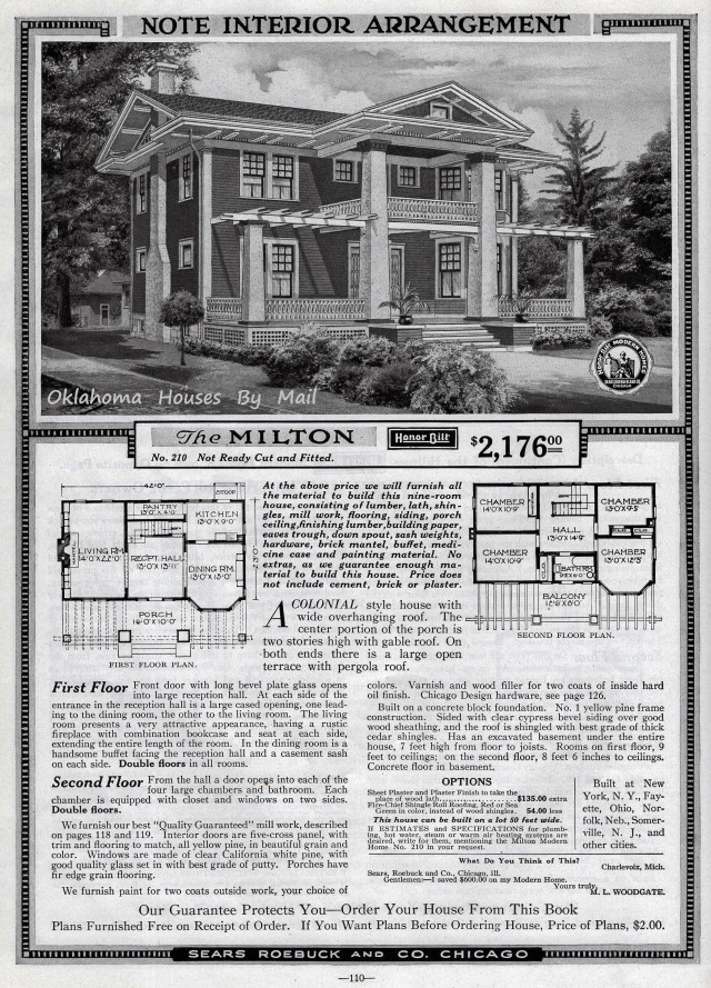 Sears Modern Homes 1918, the Milton.