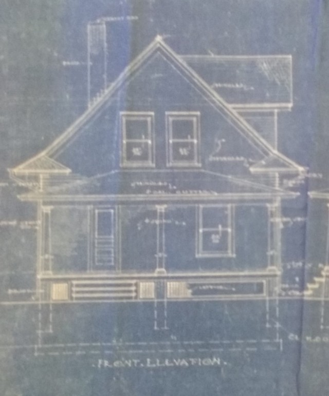 Gordon Van Tine 140 Front Elevation Blue Prints